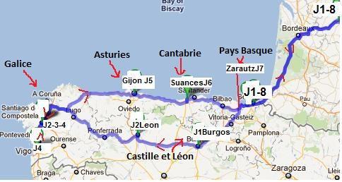 Voyage au Nord Ouest de l'Espagne, Pays Basque, Castille Léon